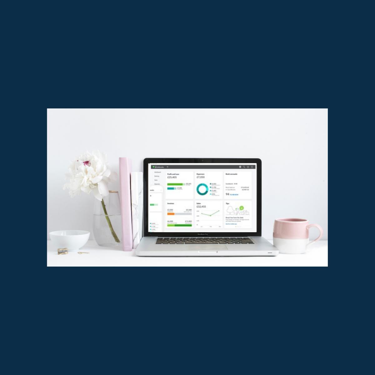 Online training on laptop